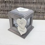 Shabby Chic PERSONALISED Rustic Wood In Memory Of GRANDAD Photo Cube ANY NAMES - 332869716307